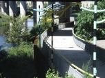 another walkway under the bridge