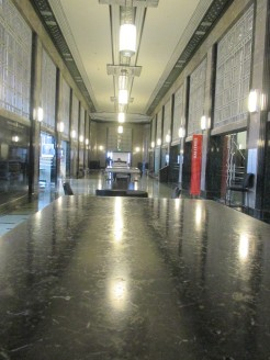 post office/museum hallway