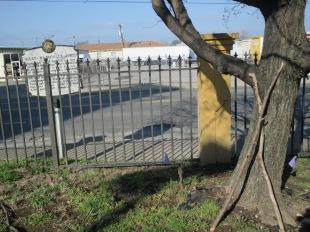 sticks left near historic fire marker