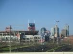 Batman behind Titans stadium
