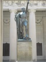 Victory statue, memorial plaques