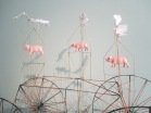 """Swine Flew"" kinetic sculpture"