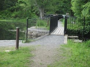footbridge over dam