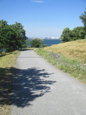 trail, with Deer Island view