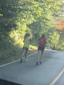 runners - uphill