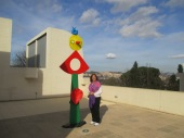 miro sculpture on the roof
