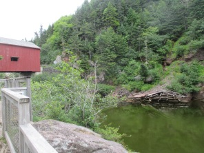 high water at covered bridge