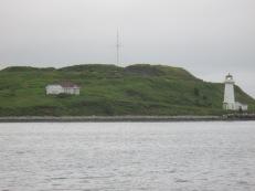 lighthouse mid-harbor