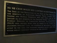 1975 terrorist bombing memorial
