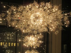 chandeliers like fireworks