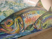 Delancey station mosaic
