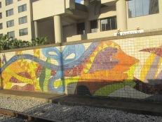 mural at Streetcar stop
