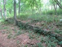 low wall at camp