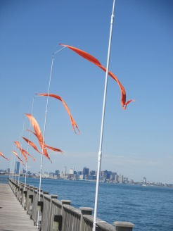 dock flags scare birds