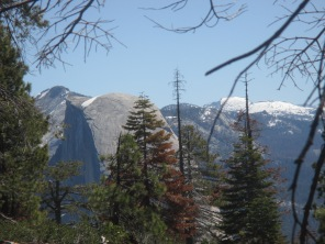 Half Dome, from the trail!